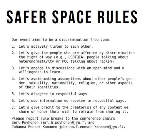Sqafer space rules